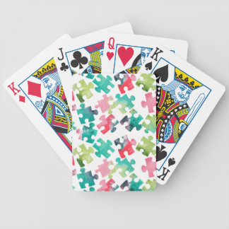 Jigsaw Puzzel Watercolour Pattern Bicycle Playing Cards