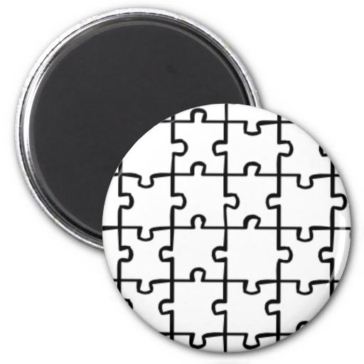 Jigsaw Puzzle 2 Inch Round Magnet