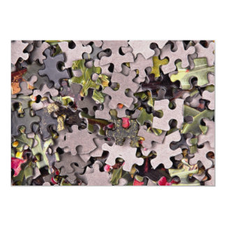 Jigsaw puzzle background 5x7 paper invitation card