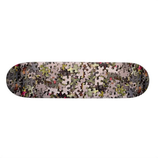 Jigsaw puzzle background skateboards