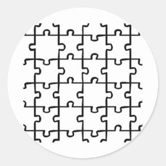 Jigsaw Puzzle Classic Round Sticker