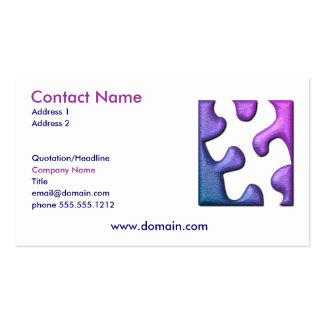 Jigsaw Puzzle Cutout Business Card