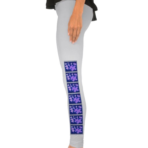 Jigsaw Puzzle Design Legging Tights
