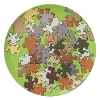 Jigsaw Puzzle Design Plate