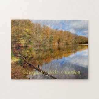 Jigsaw puzzle fall woodland autumn reflection