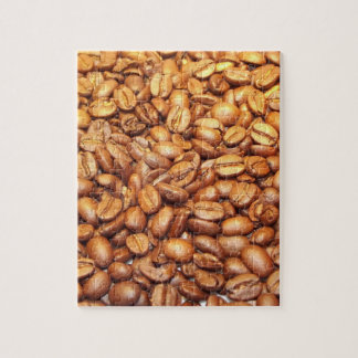 Jigsaw puzzle featuring roasted coffee beans