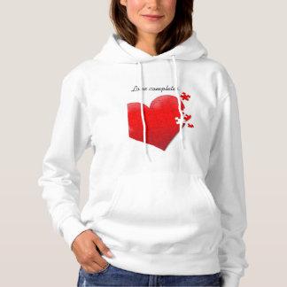 Jigsaw puzzle heart sweatshirt