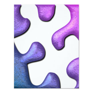 "Jigsaw Puzzle Invitation 4.25"" X 5.5"" Invitation Card"