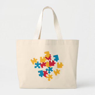 Jigsaw puzzle large tote bag