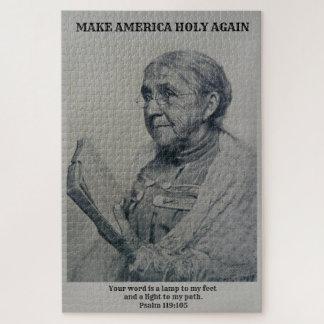 JIGSAW PUZZLE MAKE AMERICA HOLY PSALM 119:105