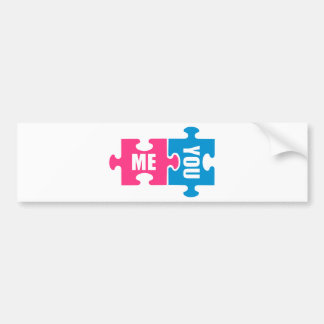 Jigsaw puzzle me and you bumper stickers