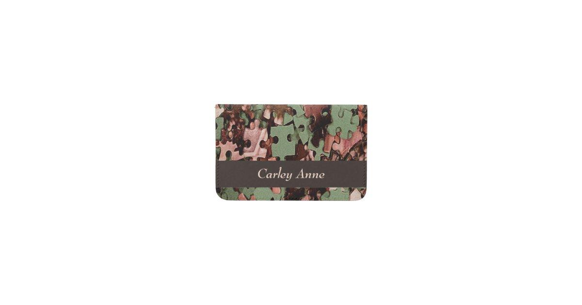 Jigsaw Puzzle Novelty Business Card Holder | Zazzle.com