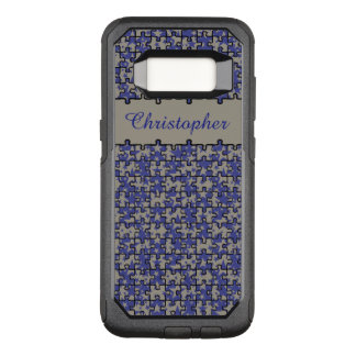 Jigsaw puzzle pattern custom name OtterBox commuter samsung galaxy s8 case