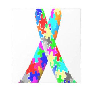 Jigsaw Puzzle Pattern Ribbon Notepad