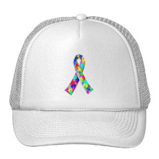 Jigsaw Puzzle Pattern Ribbon Trucker Hat