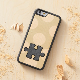 Jigsaw Puzzle Piece, Denim (Twill Textile) - Blue Carved® Maple iPhone 6 Bumper Case