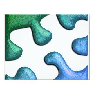 "Jigsaw Puzzle Piece Invitation 4.25"" X 5.5"" Invitation Card"
