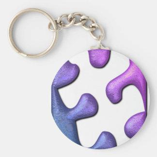 Jigsaw Puzzle Piece Keychain