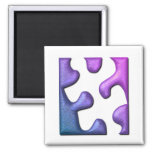 Jigsaw Puzzle Piece Square Magnet Refrigerator Magnets