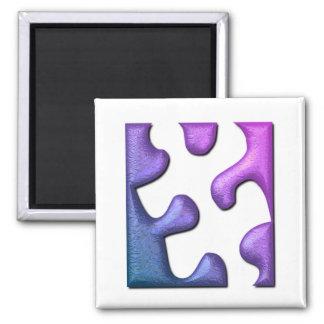 Jigsaw Puzzle Piece Square Magnet