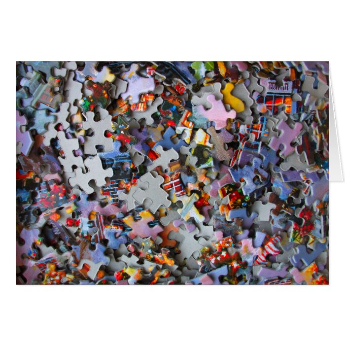 Jigsaw Puzzle Pieces Blank Card