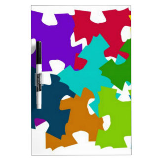 Jigsaw Puzzle Pieces Dry Erase Board