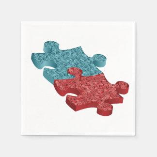 Jigsaw Puzzle Pieces Paper Napkin