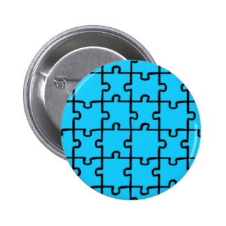 Jigsaw Puzzle Pieces Pattern 3 2 Inch Round Button