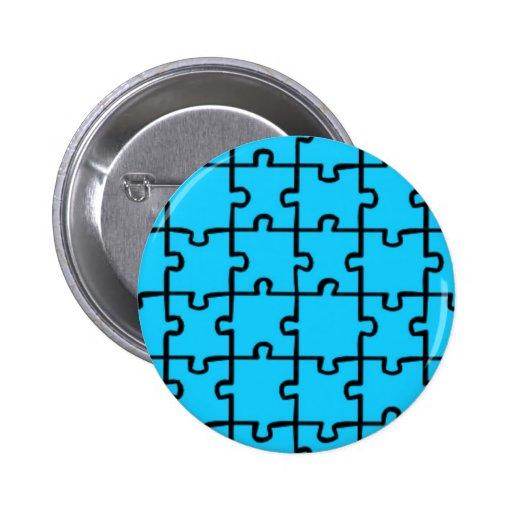 Jigsaw Puzzle Pieces Pattern 3 Buttons | Zazzle