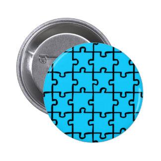 Jigsaw Puzzle Pieces Pattern 3 Pinback Button