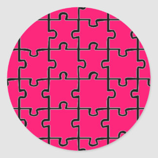 Jigsaw Puzzle Pieces Pattern CUSTOM COLOR Sticker