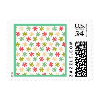 Jigsaw Puzzle Pieces U.S. Postcard Postage