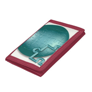 Jigsaw Puzzle Pieces Trifold Wallets