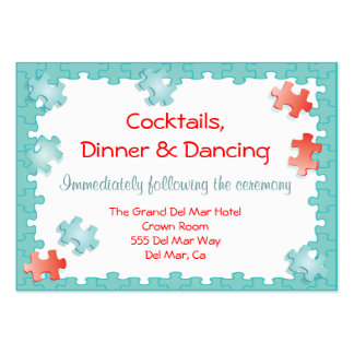 Jigsaw Puzzle Reception Enclosure Card Insert Business Card