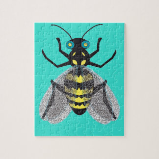 Jigsaw Puzzle with Colorful Bee