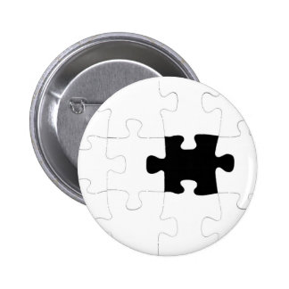 Jigsaw Puzzle with Missing Piece Button