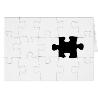 Jigsaw Puzzle with Missing Piece Card