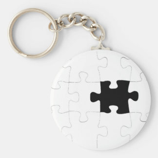 Jigsaw Puzzle with Missing Piece Keychain