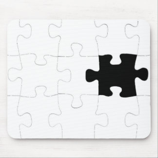Jigsaw Puzzle with Missing Piece Mouse Pad
