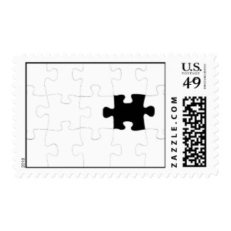 Jigsaw Puzzle with Missing Piece Postage