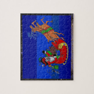 Jigsaw Puzzle with Sleigh Ride Painting