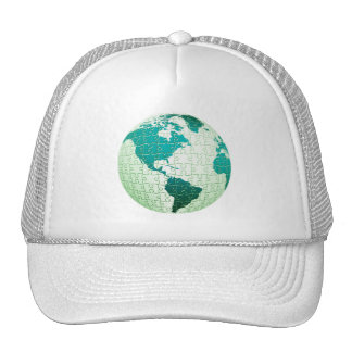 Jigsaw Puzzle World Baseball Hat