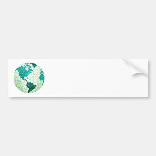 Jigsaw Puzzle World Bumper Sticker