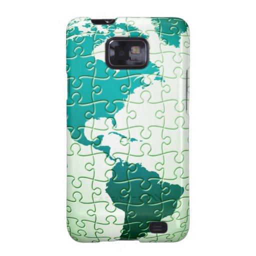 Jigsaw Puzzle World Samsung Galaxy Case Galaxy S2 Cover