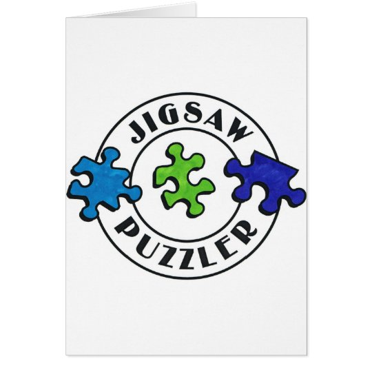 Jigsaw Puzzler clear background Card