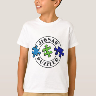 Jigsaw Puzzler clear background T-Shirt