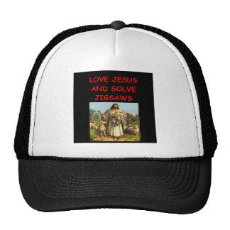 jigsaw puzzles trucker hat