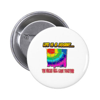 jigsaw shirt pinback button