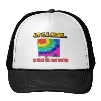 jigsaw shirt trucker hat