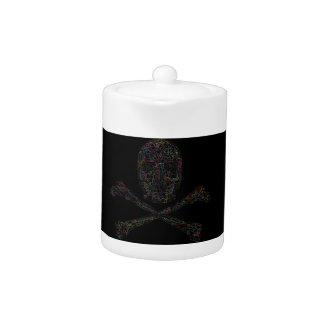 Jigsaw Skull & Crossbones - Color Teapot